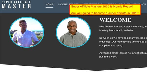 only $57, The Ultimate Super Affiliate Mastery 2020 - Peter Parks & Andrew Fox